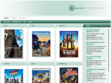 Screenshot von alias-entertainment.de