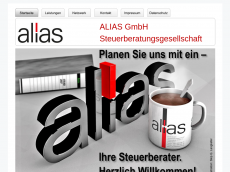 Screenshot der Domain alias-gmbh.de