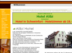 Screenshot der Domain alibihotel.de