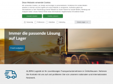 Screenshot der Domain alibra-logistik.de