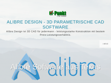 Screenshot der Domain alibre-design.de