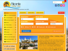 Screenshot der Domain alicanteholidayvillas.com