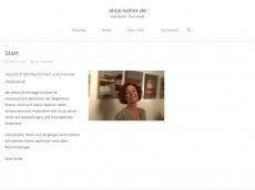 Screenshot von alice-keller.de