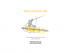 Screenshot der Domain alice-martin.de