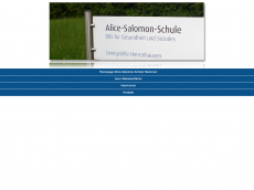 Screenshot der Domain alice-salomon.de