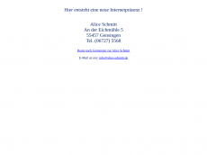 Screenshot der Domain alice-schmitt.de