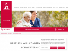 Screenshot der Domain alice-schwesternschaft.de