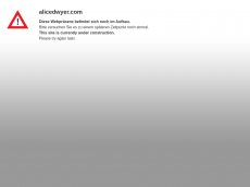 Screenshot der Domain alicedwyer.com