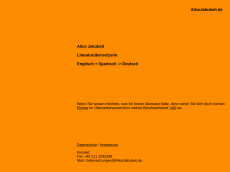 Screenshot der Domain alicejakubeit.de