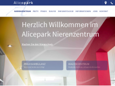 Screenshot der Domain alicepark.de