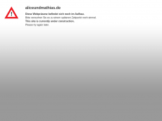 Screenshot der Domain aliceundmathias.de