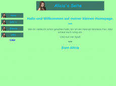 Screenshot der Domain alicia-online.de