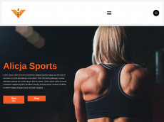 Screenshot der Domain alicja-sport.de