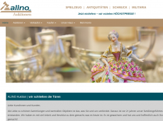 Screenshot der Domain alino-auktionshaus.de