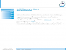 Screenshot der Domain alinso.de