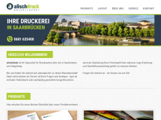 Screenshot der Domain alischdruck.de
