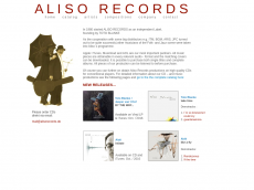 Screenshot der Domain alisorecords.de