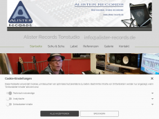 Screenshot der Domain alister-records.de