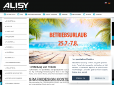 Screenshot der Domain alisy.de