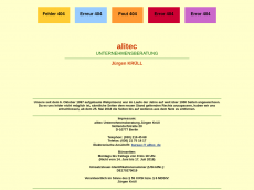 Screenshot der Domain alitec.de