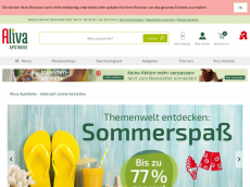 Screenshot der Domain aliva-apotheke.de