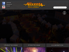 Screenshot der Domain aliventa.de