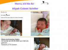 Screenshot der Domain aliyah-schiller.de