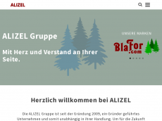 Screenshot der Domain alizel.com