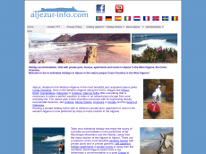 Screenshot der Domain aljezur-info.de