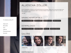 Screenshot der Domain aljoschazoeller.de