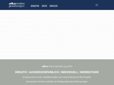 Screenshot der Domain alka-mediengestaltung.de