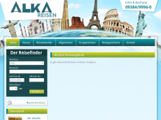 Screenshot der Domain alka-reisen.de
