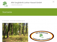 Screenshot der Domain alki-sarg.de