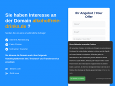 Screenshot der Domain alkoholfreie-drinks.de