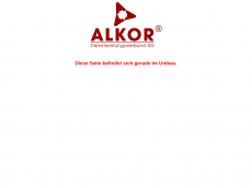 Screenshot der Domain alkor-kg.de