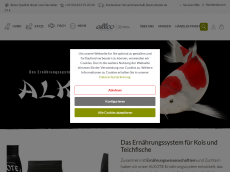 Screenshot der Domain alkote-koifutter.de