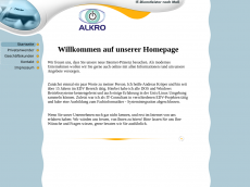 Screenshot der Domain alkro.de