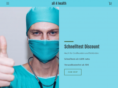 Screenshot der Domain all-4-health.de