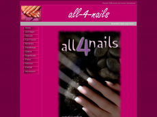 Screenshot der Domain all-4-nails.de