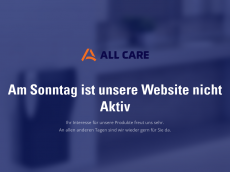 Screenshot der Domain all-care.de