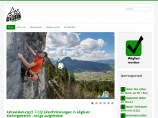 Screenshot der Domain all-climb.de