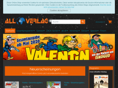 Screenshot der Domain all-comic.de