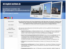 Screenshot der Domain all-english-institute.de
