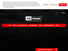 Screenshot der Domain all-flash.de