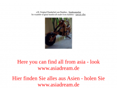 Screenshot der Domain all-from-asia.de