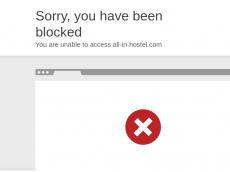Screenshot der Domain all-in-hostel.com