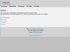 Screenshot der Domain all-in-it.de
