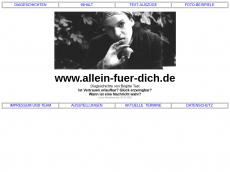 Screenshot der Domain allein-fuer-dich.de