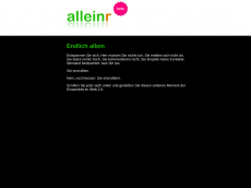 Screenshot der Domain alleiner.de