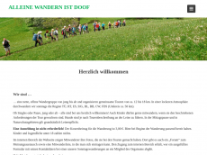 Screenshot der Domain alleinewandernistdoof.de